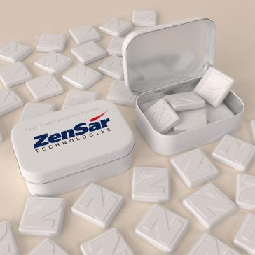 letter or digit shaped logo embossed promotional mints