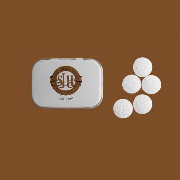 Hospitality mints logo shaped