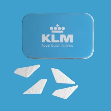 Corporate mint tins with logo shaped pepeprmints
